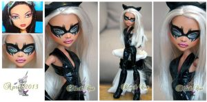 MH Cleo repaint #7 ~Black Cat~ by RogueLively