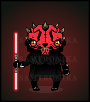 .:Star Wars:.Chibi Darth Maul by SaMtRoNiKa