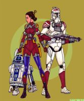 Padme SpaceTropper and R2D2 by VectorAttila