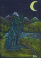 loup etoiles by angeloup