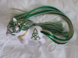 Custom my little pony Emerald Celtic knot 1 by thebluemaiden