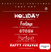 Beautiful Christmas |FONT SET| by Burn-the-life