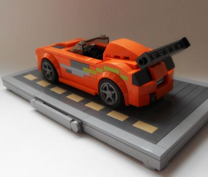Brian's 1994 Toyota Supra MK IV (stand) back view by Spooky42