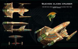 Gorn Suchos class cruiser ortho by unusualsuspex