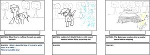 My Little Pony: BTTF storyboard page 1 by ToMaz777