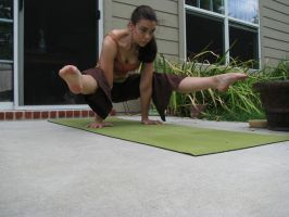 tittibhasana with straight arm by kelli1203