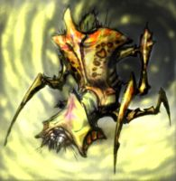 Colored antlion concept art by RJD37