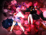 Iori and Athena Wallpaper reqesut by xIorixyagamix