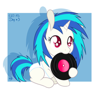 EQD ATG Day 3: Filly Vinyl Scratch by Akashasi