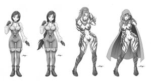 P. Garnet and Rachel (2 versions) _ commission. by Sano-BR