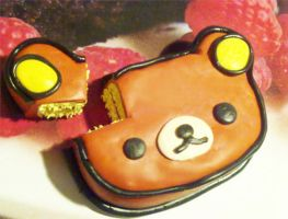 Polymer Clay : Rilakkuma Cake by CraftCandies