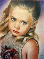 portrait of little girl by Nard66