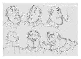 head expression sketches by sunilk83