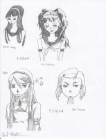 Persona 4 Character Sketchs by bluefire4000