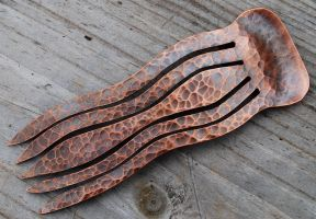 Copper Decorative Hair Comb by DreamingDragonDesign