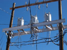 telephone pole transformers by fotophi