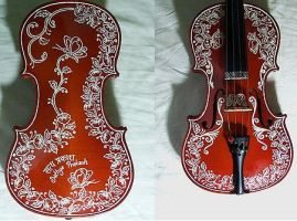 Painted Violin by PreetK