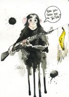 YOU TUBE MONKEY by lora-zombie