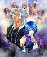 XEMNAS x AQUA: It's been a long time...my friend 2 by RinaInverse