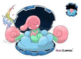 Mega  Clamperl (Alternative evo) by LeafyHeart