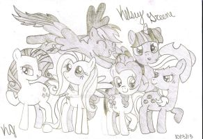 My Little Pony Drawing by KK-Dragon