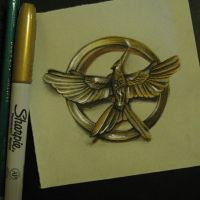 Mockingjay Pin by haloanime97
