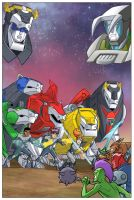 Voltron Force cover art by DarioBrizuelaArtwork