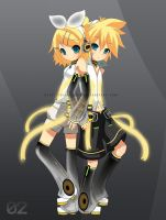 Rin and Len Kagamine by Firework12