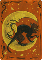 The Cat and the Moon by black-brd