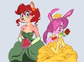 Sarah and Celie by Lynchenberg