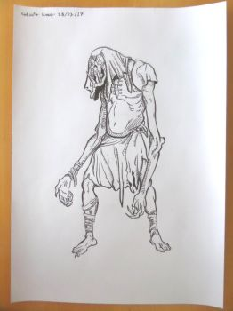 Drawing of Strange Creature! by betopyt