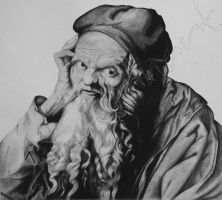 AD's St. Jerome - Charcoal by TreeClimber