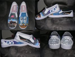 Pink Floyd Shoes by lizlemler