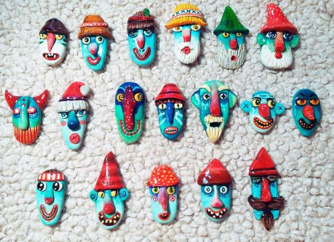 Traditional Romanian Masks (with a twist) 1 by AnirBrokenear