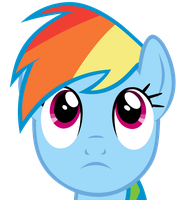 Vector Practice #3: Rainbow Dash: Cadet by Lahirien