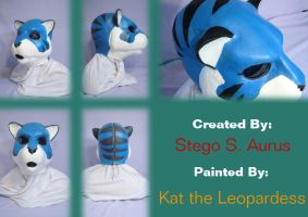 Painted Gas Mask: Punky Tiger by Catwoman69y2k