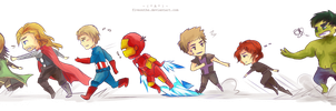 AVENGERS: Run run run!! by Fiveonthe