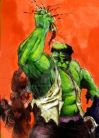 Hulk vs Zombies by warmuzak