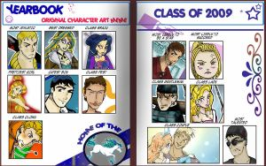 Yearbook Character Meme Filled by TRALLT