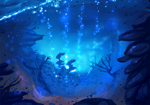 Underwater lights- ( auction OPEN) by ryky