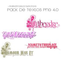 Textos PNG 4.0 (Pack) by MariannaStayStrong13