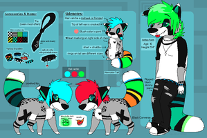 (OLD) Spunky Fursona Reference Sheet by SpunkyRacoon