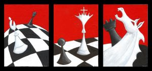 Chess ATC set of 3 by tursiart