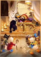 Uncle Scrooge and Donald Duck by CarlosMota