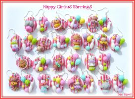 Happy Circus Earrings by Bojo-Bijoux