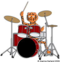 Tiger Drums by HarlandGirl