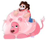 Pixel Practice-Steven and Lion by ShySiesta