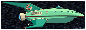 Planet Express Spaceship by javoec