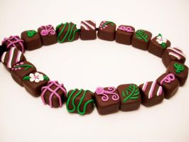 Springtime Chocolates bead set by FlyingFrogCreations