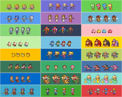 SSB4 E3 Demo character color selections. by Neoriceisgood